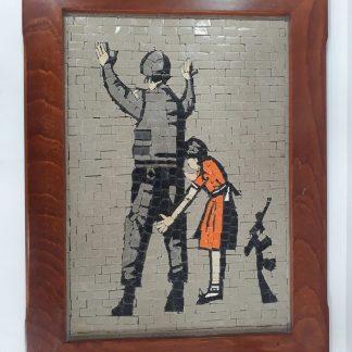 Girl Frisking Solider Mosaic