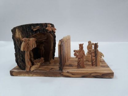 Nativity Scene with Wall -Large