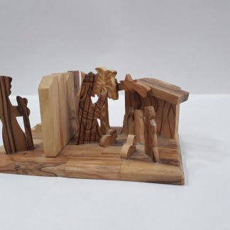 Nativity Scene with Wall -Medium