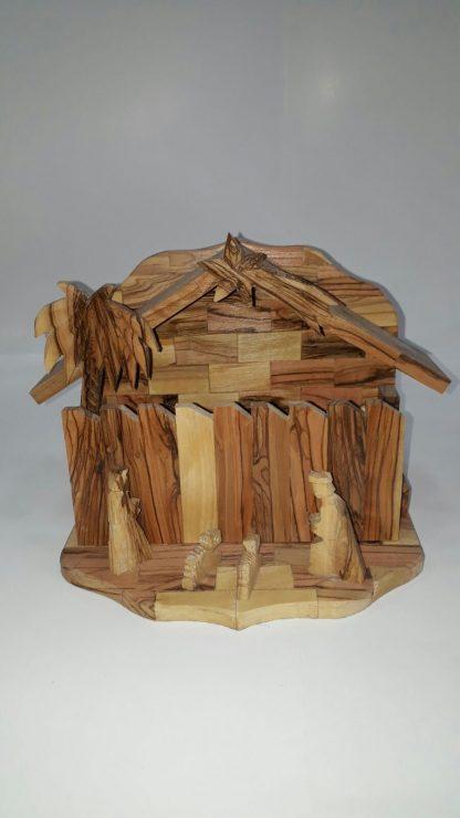 Nativity Scene with Wall -Small