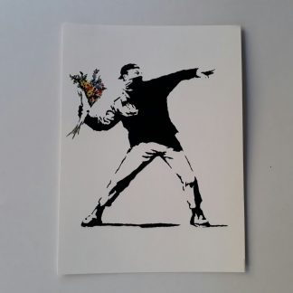 Postcard - Flower Thrower