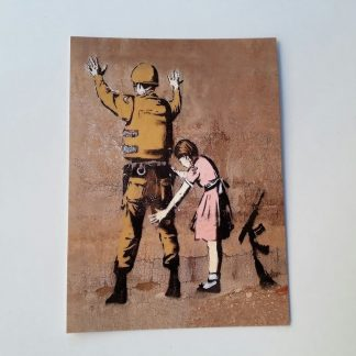 Postcard - Girl Frisking Soldier