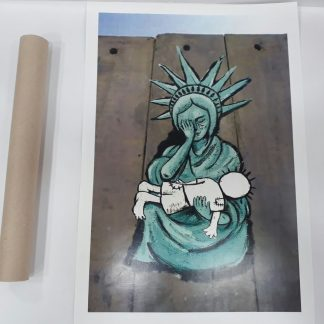 Poster - Lady Liberty Weeping for Palestine