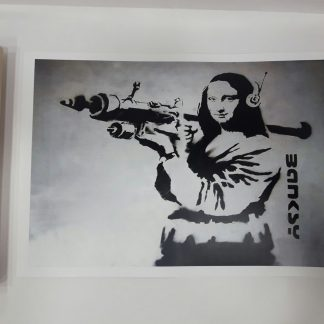 Poster - Mona Lisa with Bazooka Rocket