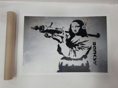 Poster - Mona Lisa with Bazooka Rocket