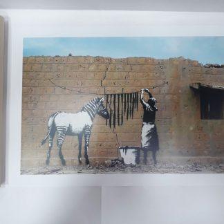 Poster - Zebra Wash Day
