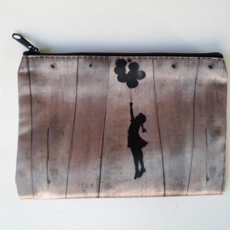 Small Zipper Purse - Balloon Girl