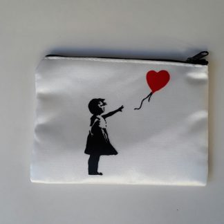 Small Zipper Purse - Balloon Girl (Heart)