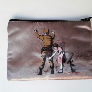 Small Zipper Purse - Girl Frisking Soldier