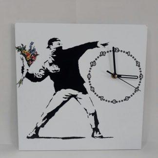 Wall Clock - Flower Thrower