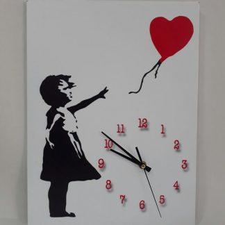 Wall Clock - Red Balloon Girl