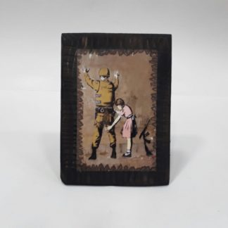 Wood Frame - Girl Frisking Soldier