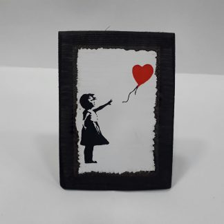 Wood Frame - Red Balloon Girl