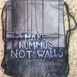 Make Hummus Not Walls Drawstring Backpack