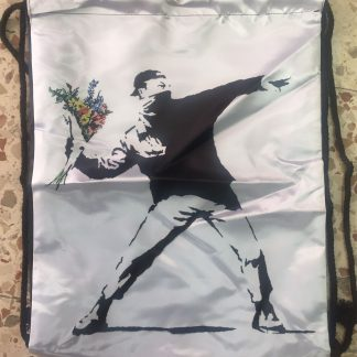 Flower Thrower Drawstring Backpack